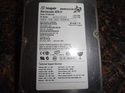 Old Seagate IDE HDD to USB Flash Drive