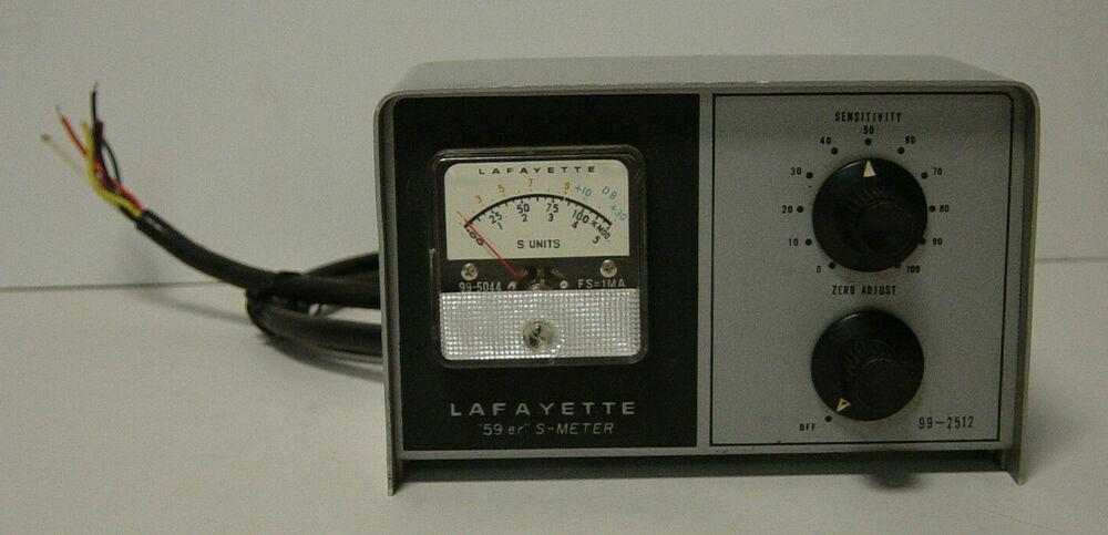 K6HR Radio Timeline: Lafayette S Meter